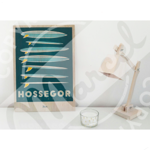 """Impression sur bois HOSSEGOR """"Surfboards"""""""
