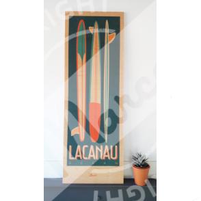 "Wood print LACANAU ""Surfboards"""