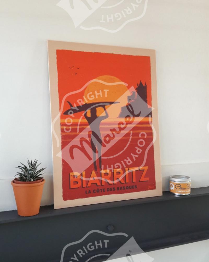 """Collection Capsule Impression Bois BIARRITZ """"Bains de Mer"""""""