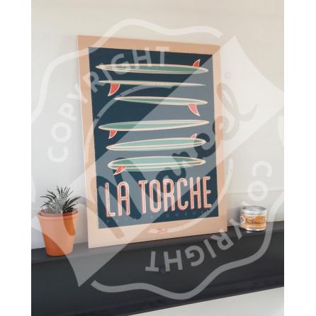 "Wood print ""La Torche"""