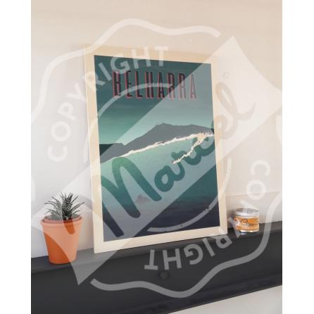 "Wood print BIARRITZ ""Surfboards"""