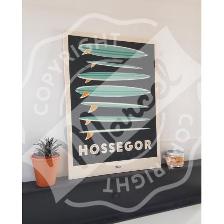 "Collection Capsule Impression Bois HOSSEGOR ""Surfboards"""