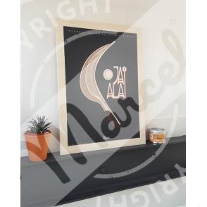 "Wood print ""JAI ALAI"""
