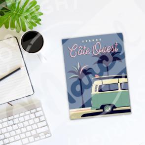 Carnet de Notes Côte Ouest Palm3van