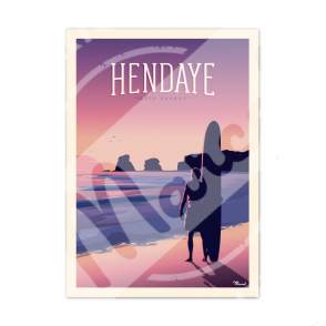 """Affiche HENDAYE """"Les 2 Jumeaux"""""""
