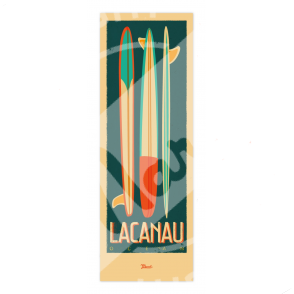 """Poster Lacanau """"Surfboards"""""""