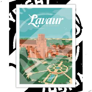 """Poster LAVAUR """"Pays de Cocagne"""""""
