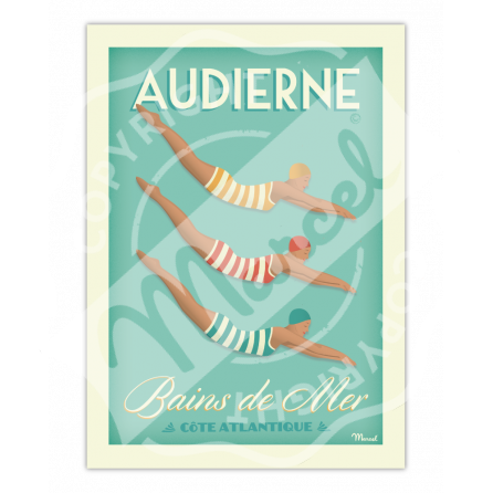 Poster AUDIERNE BAINS DE MER