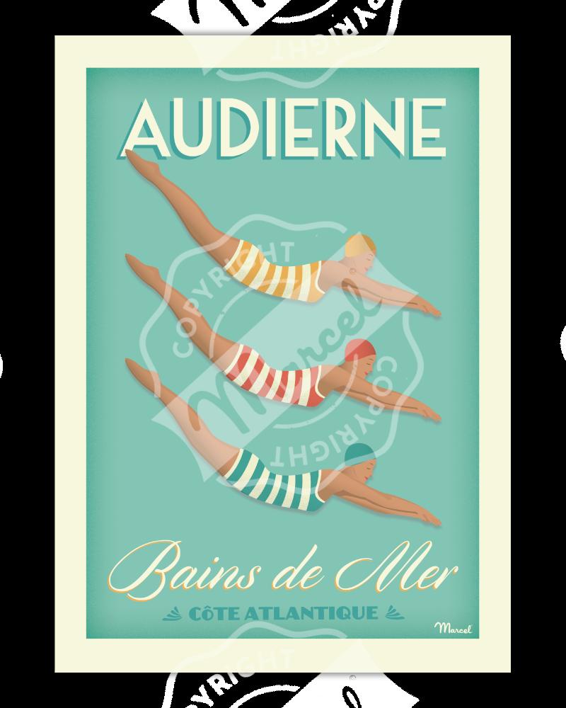 Affiche AUDIERNE BAINS DE MER