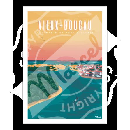 """Affiche VIEUX-BOUCAU """"Port d'Albret"""""""