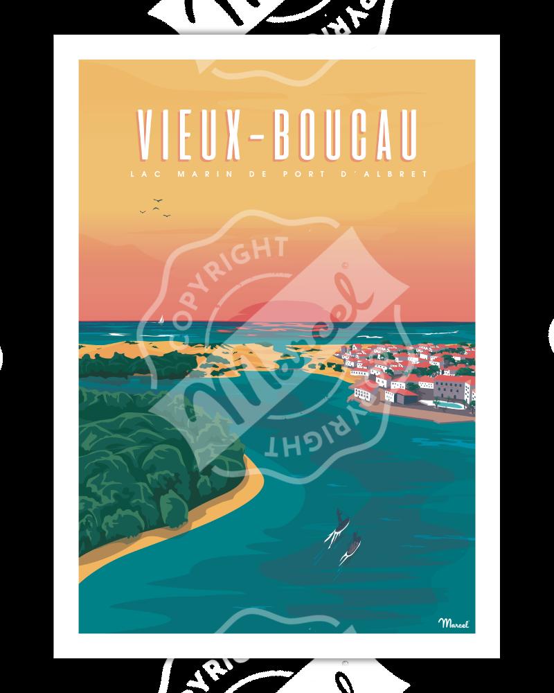 """Poster VIEUX-BOUCAU """"Port d'Albret"""""""
