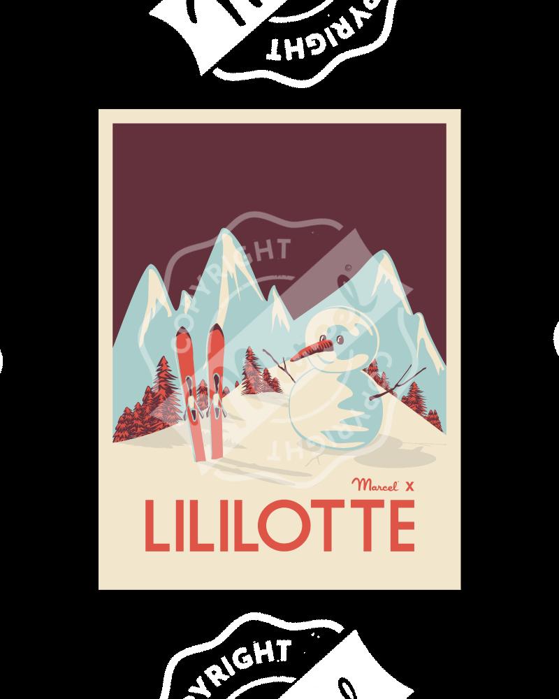"""Affiche Lililotte """"Snowman"""""""