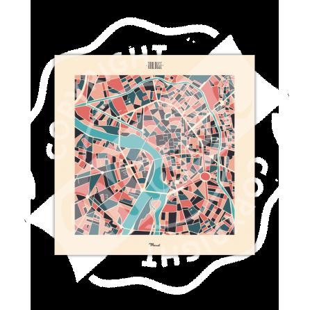 "Affiche Toulouse ""Plan Mozaic"""