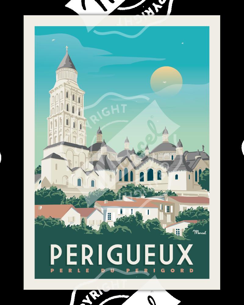 Poster PERIGUEUX Cathédrale...