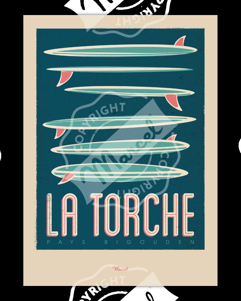 """Affiche La Torche """"Surfboards"""""""