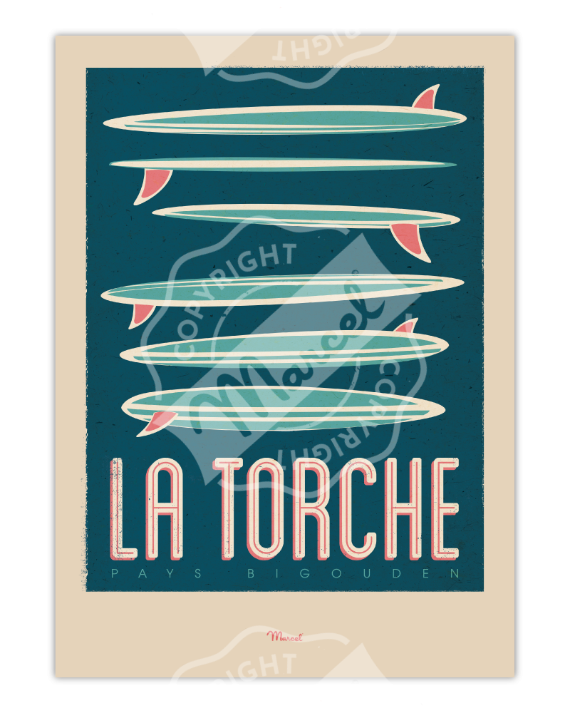 "Poster La Torche ""Surfboards"""