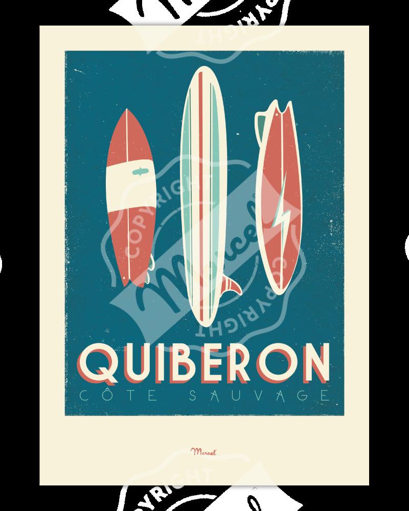 """Affiche Quiberon """"Surfboards"""""""