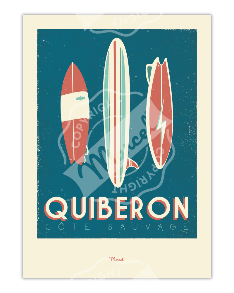 "Poster Quiberon ""Surfboards"""