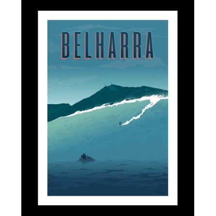 """Vintage Poster """"Belharra"""" - Marcel Travel Poster"""