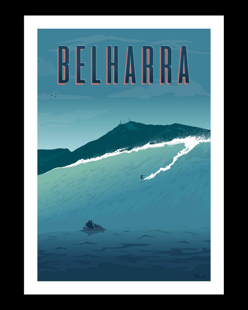"""Affiche vintage """"Belharra"""" - Marcel Travel Poster"""