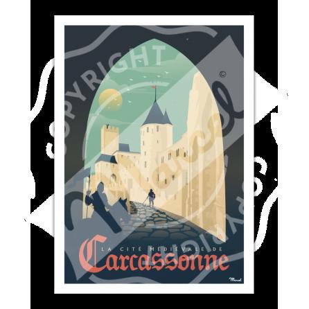"""Affiche CARCASSONNE """"La Cité Médiévale"""""""