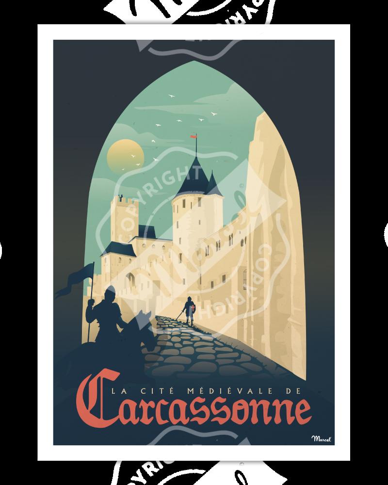 """Affiches CARCASSONNE """"La Cité Médiévale"""""""