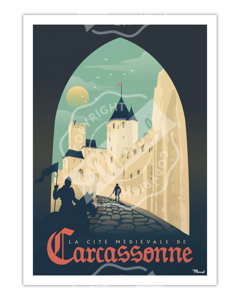"""Poster CARCASSONNE """"La Cité..."""