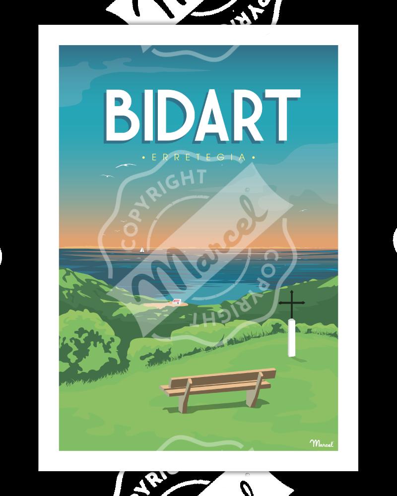 """Affiche Bidart """"Erretegia"""""""