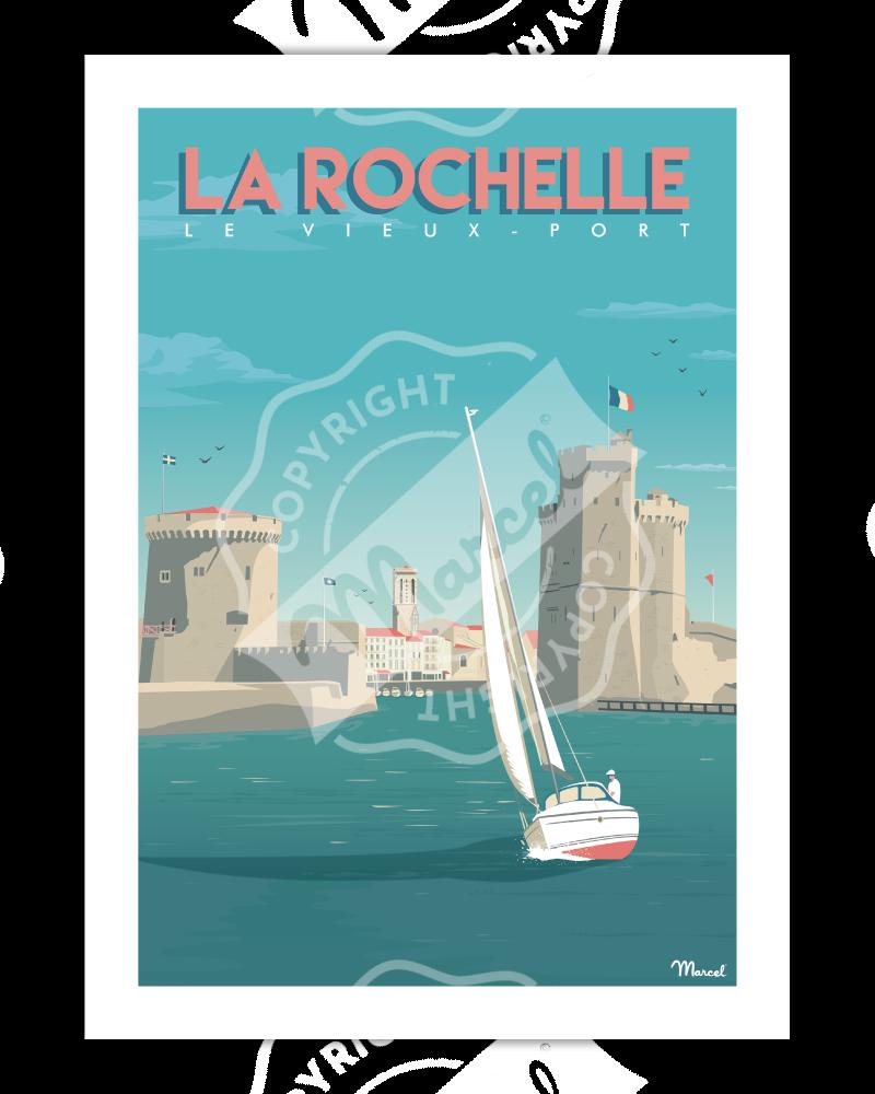 """Poster La Rochelle """"Vieux..."""