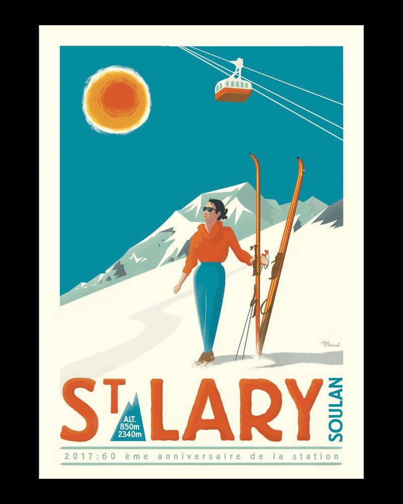 "Poster St Lary ""60ans"""