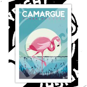 """Affiche La Camargue """"Flamingos"""""""