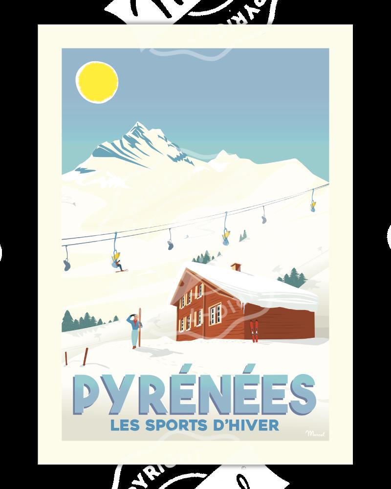 "Poster PYRÉNÉES ""Les Sports..."