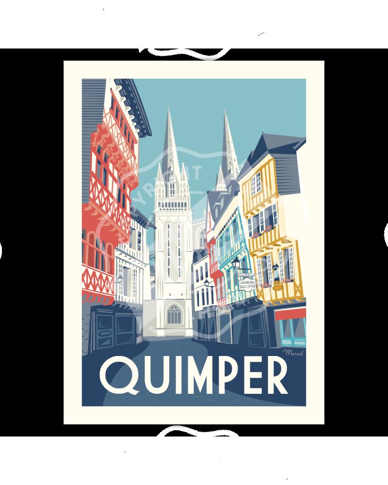 """Poster Quimper """"Rue Kéréon"""""""
