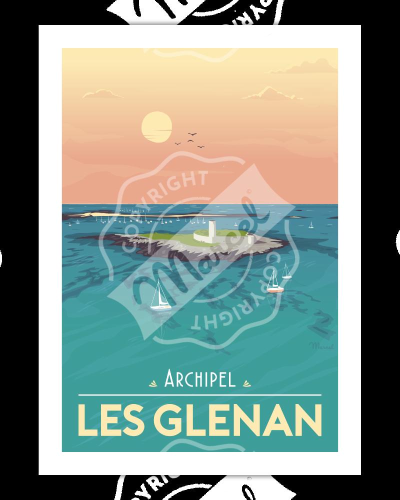 Poster Archipel Les Glénan