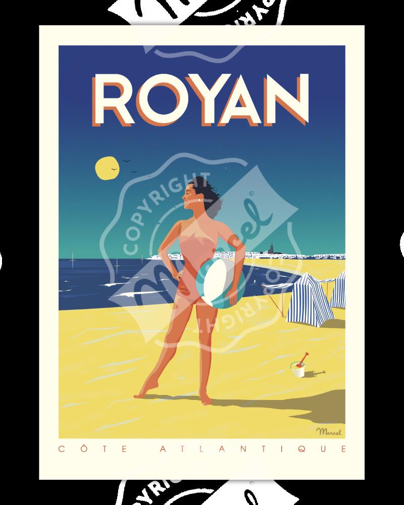 """Poster Royan """"Côte Atlantique"""""""