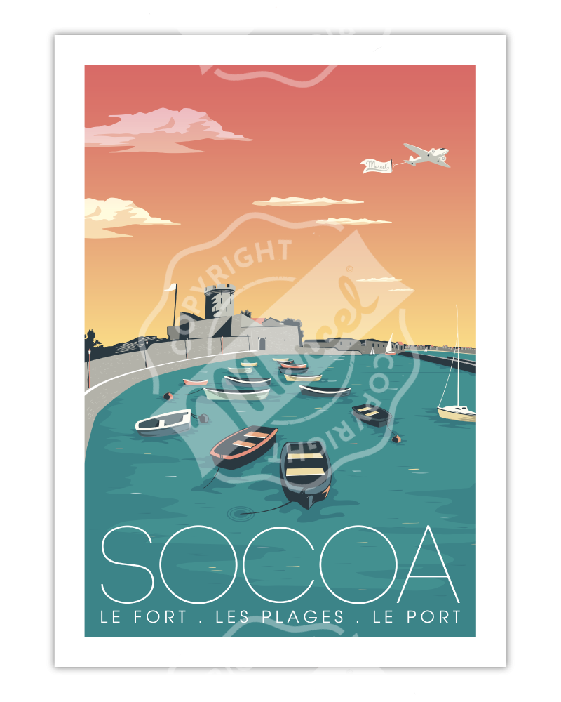 """Affiche Socoa """"Le Fort"""""""