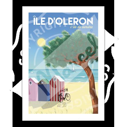 """Affiche Île d'Oléron """"L'île de lumière"""""""