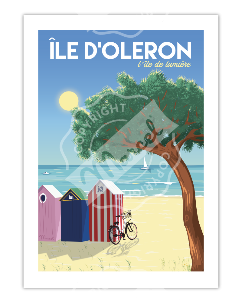 """Poster Île d'Oléron """"L'île..."""