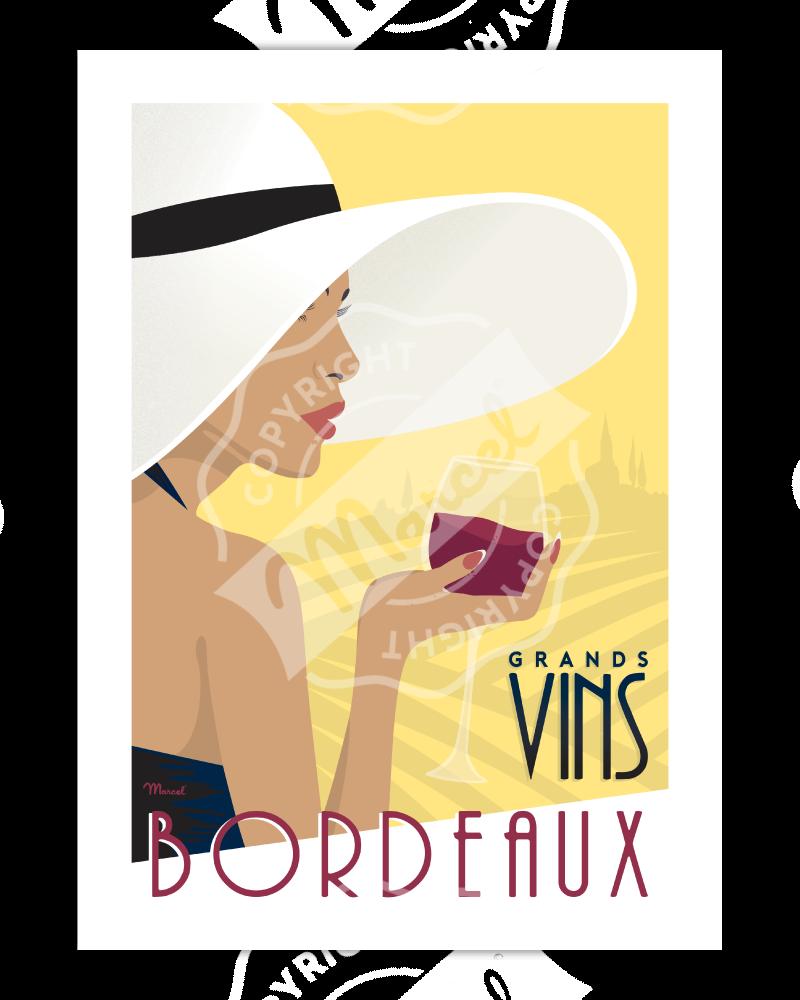 """Poster Bordeaux """"Grands..."""