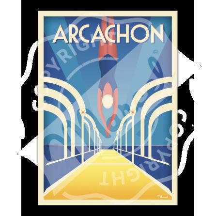 Affiche ARCACHON Jetée Thiers