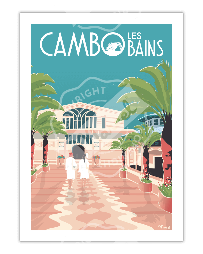 "Affiche CAMBO LES BAINS ""Les Thermes"""