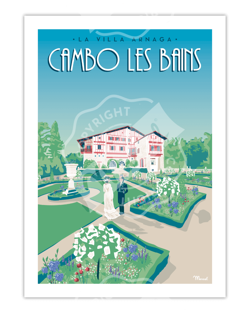 Affiche CAMBO LES BAINS...