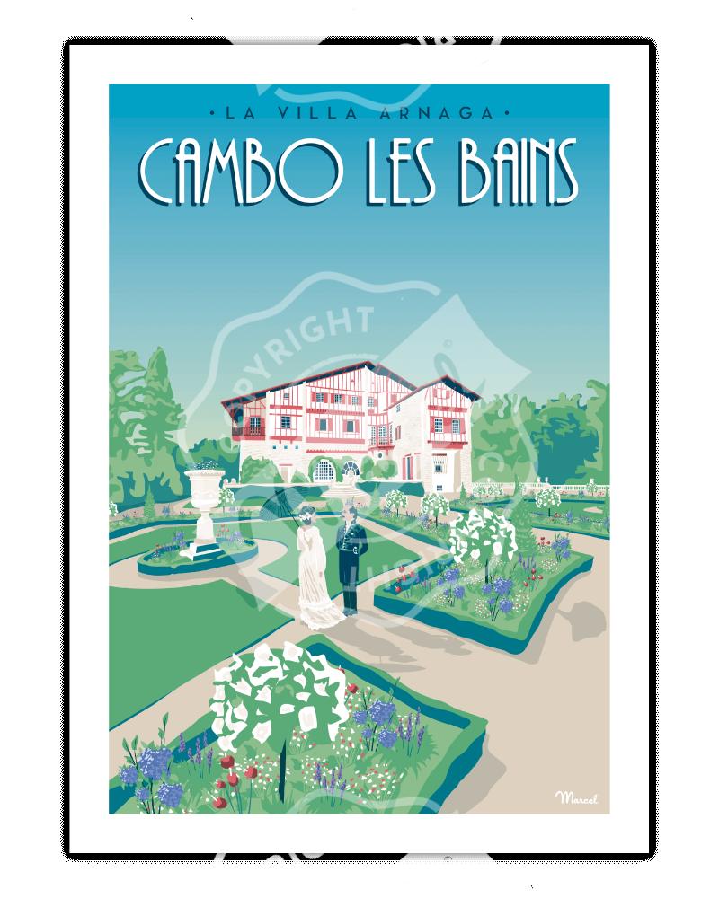 Affiche CAMBO LES BAINS...