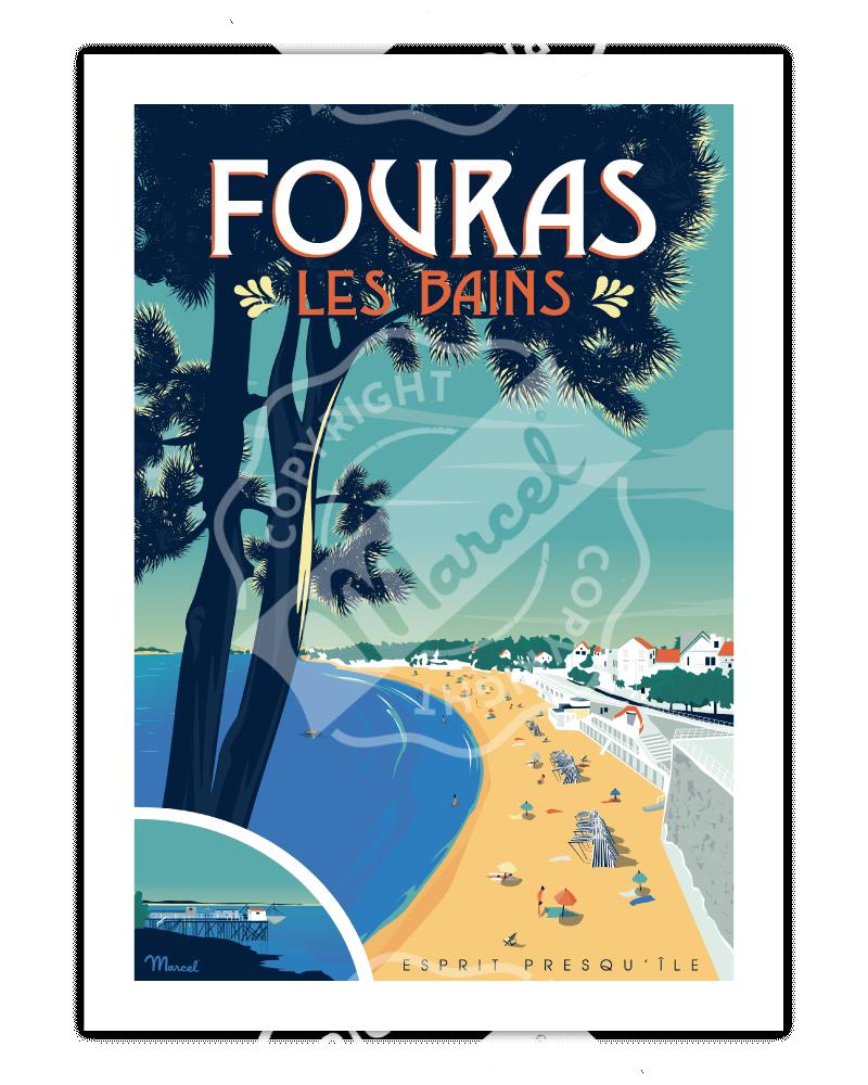 Poster FOURAS-LES-BAINS...