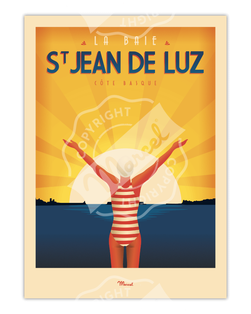 """Poster ST JEAN DE LUZ """"La..."""
