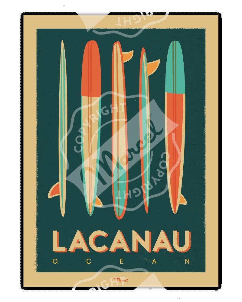 "Affiche Lacanau ""Surfboards"""
