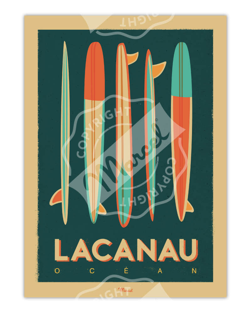 Poster Lacanau Ocean...