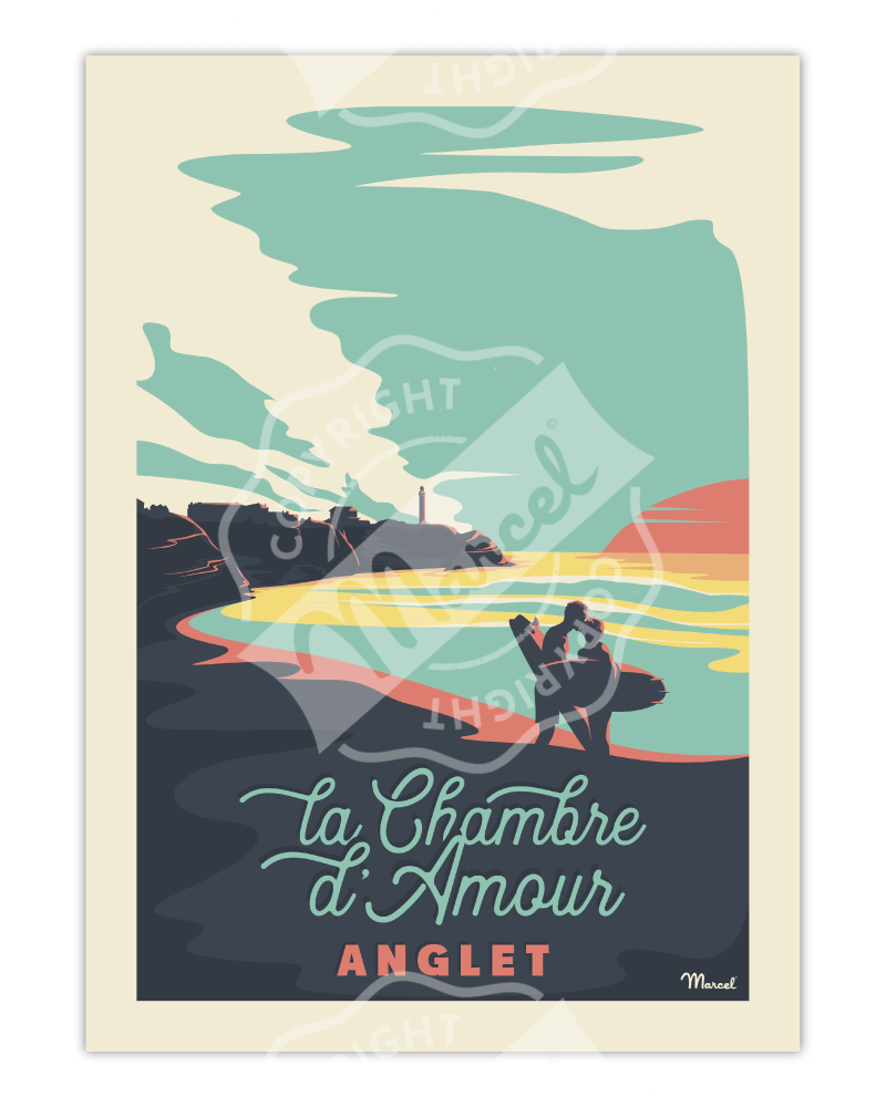 "Affiche ANGLET ""Chambre d'Amour"""