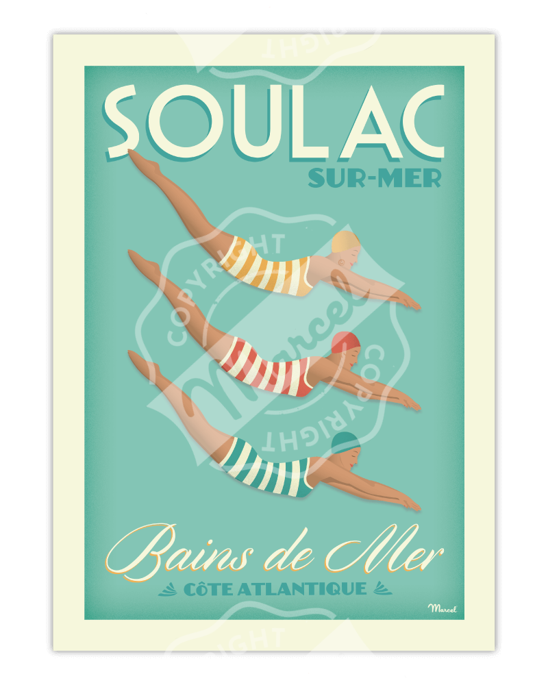 "Poster SOULAC ""Bains de Mer"""