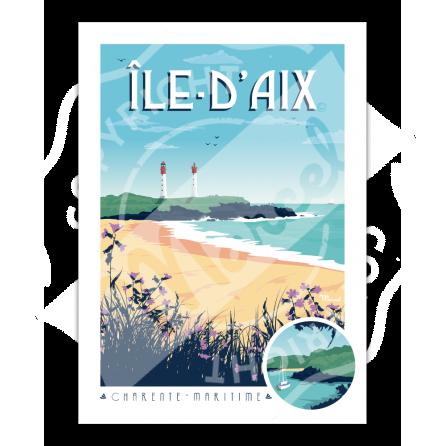 Affiche ILE D'AIX